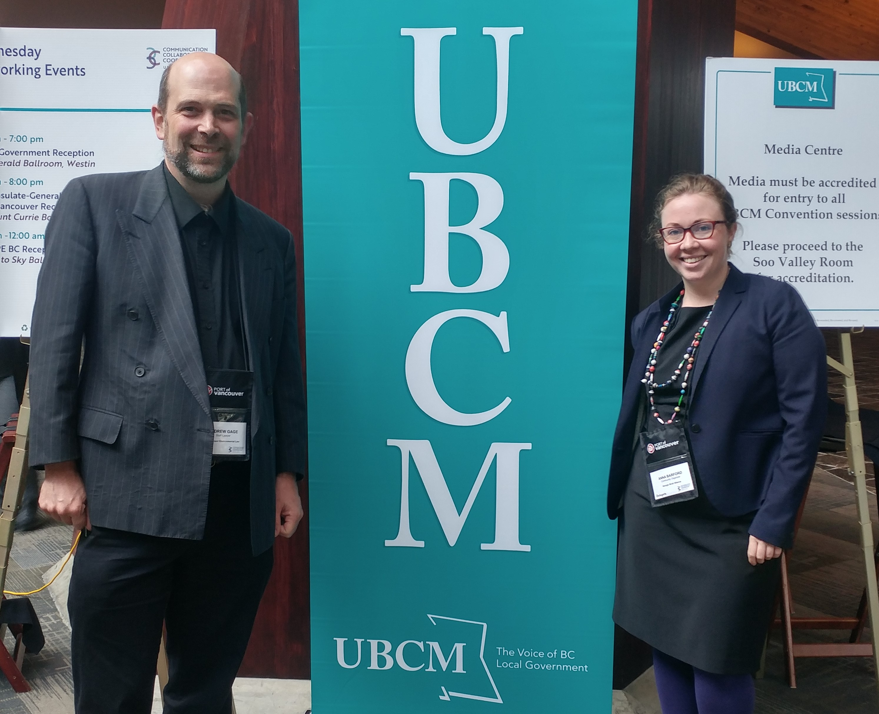 Andrew Gage + Anna Barford at UBCM (Photo: Lisa Matthaus)