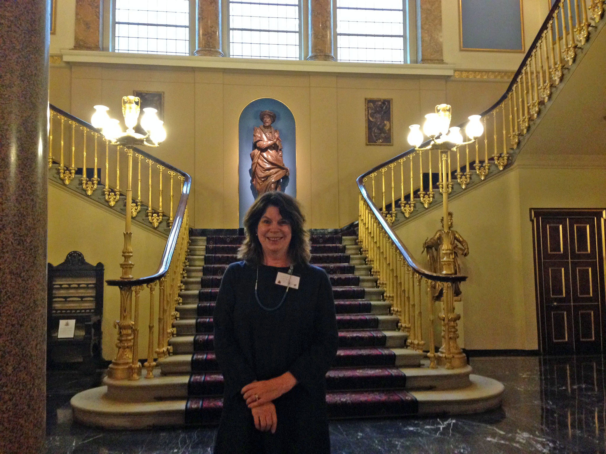 Linda Nowlan at Fishmongers Hall, UK