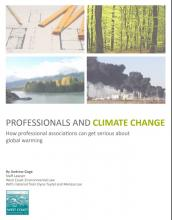 Professionals and Climate Change report cover