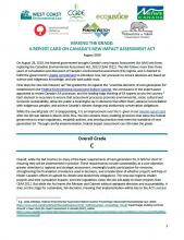 Making the Grade: A Report Card on Canada's New Impact Assessment Act